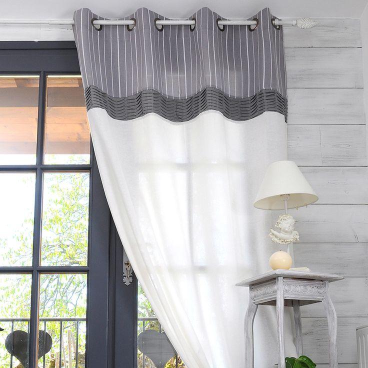 les 9 meilleures images du tableau rideaux sur pinterest id es pour la maison ma maison et. Black Bedroom Furniture Sets. Home Design Ideas