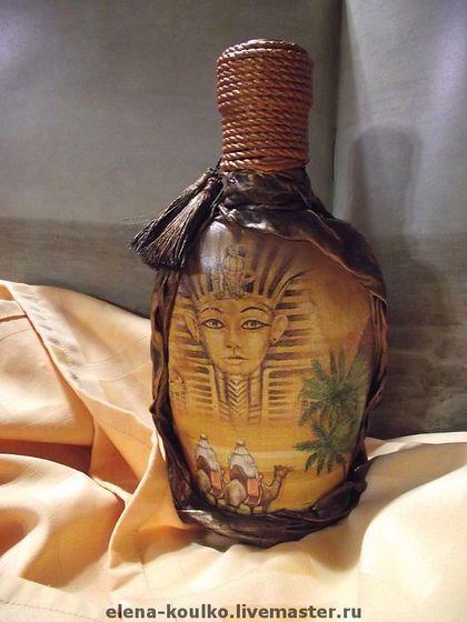 Подарочное оформление бутылок ручной работы. Ярмарка Мастеров - ручная работа Декоративные бутылки. Handmade.