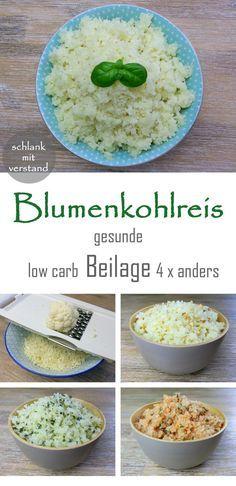 Blumenkohlreis low carb Rezept