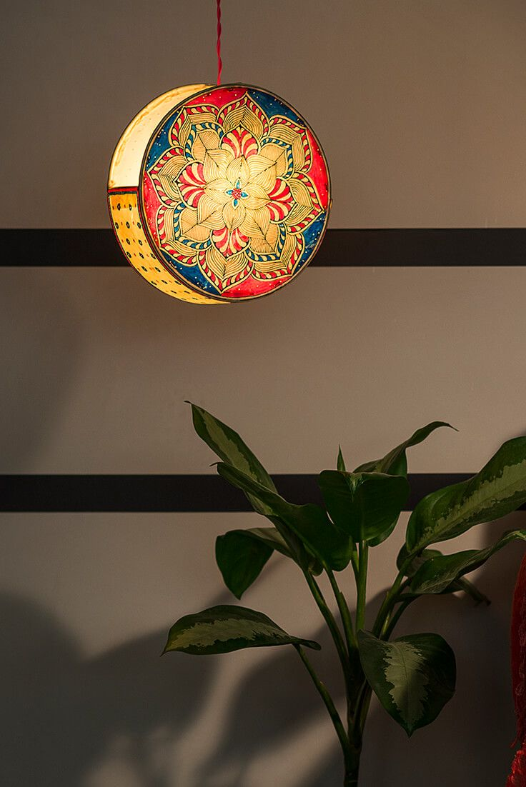 Creative Hanging Lampshades To Add Color To Your Bedroom Painted
