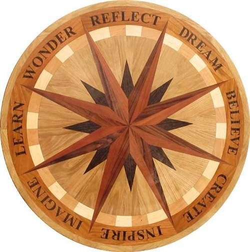 33 Best Images About Hardwood Floor Medallions On