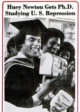 huey newton   News from the 1980′s: Huey P Newton Gets Ph.D From UC Santa Cruz ...