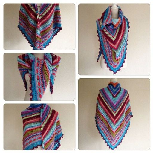 Sunday Shawl - crochet pattern from The Little Bee (photo ...