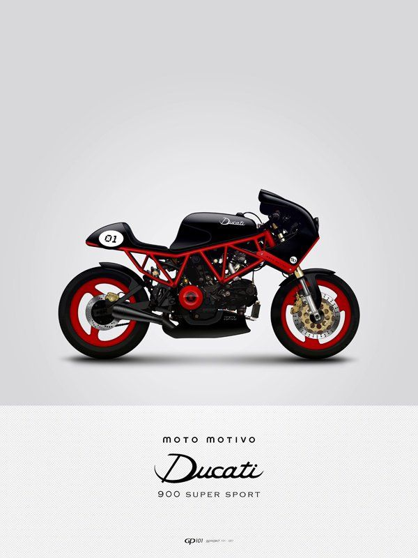 Ducati. Love the black and red color combination