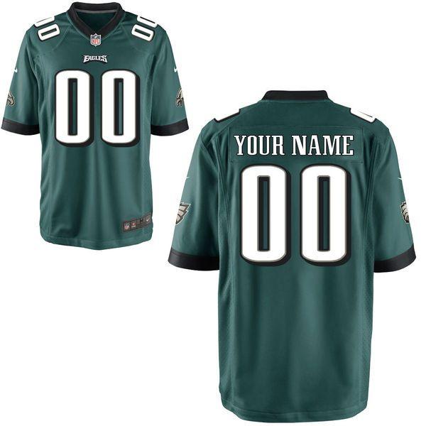 Philadelphia Eagles Nike Custom Game Jersey - Midnight Green