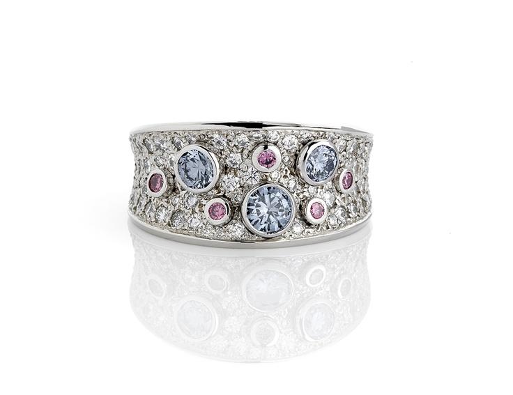 Rare Pink and Blue Argyle Diamonds