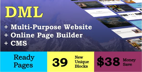 DML Online Website Builder and CMS . DML has features such as High Resolution: Yes, Compatible Browsers: IE11, Firefox, Safari, Opera, Chrome, Software Version: .NET 4.0, .NET 4.5