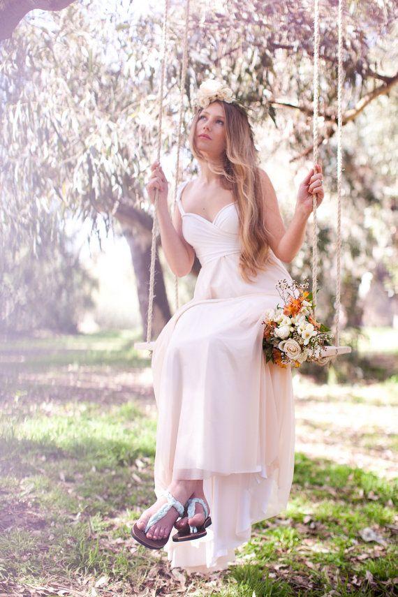 Polpo in puro Chiffon nudo Infinity Wrap nozze di CoralieBeatrix, $149.99