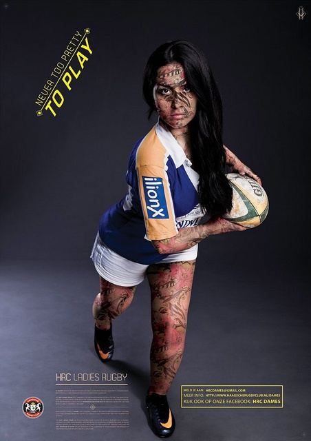 Never too pretty to play rugby, HRC women.