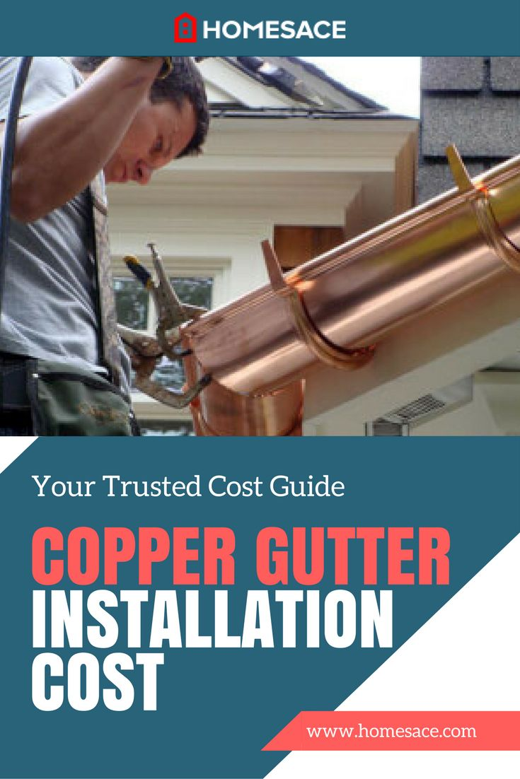 Is copper gutter installation on your home to do list? We discuss copper gutters and learn what determines these specific installation costs. Get estimates from local experts. Homesace.com provides you with all the copper gutter installation tips, advice and costs you need to make your next copper gutter installation project so much easier.