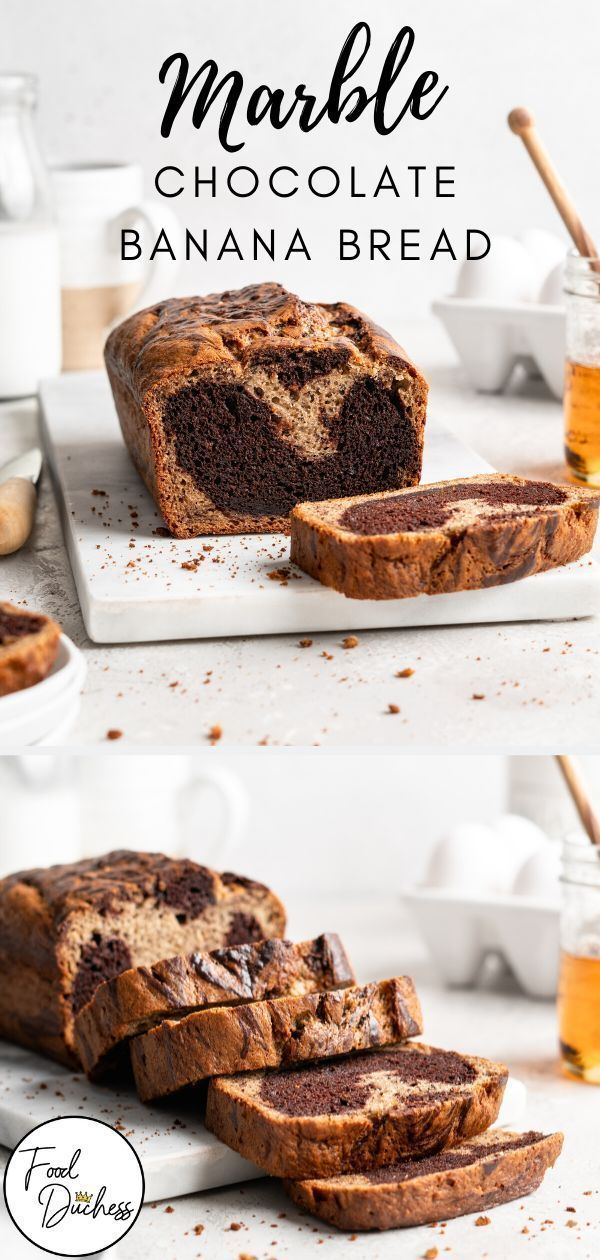 This thick, fluffy, and ultra-tender Marble Chocolate Banana Bread is both beautiful to look at and mouth-wateringly goo…