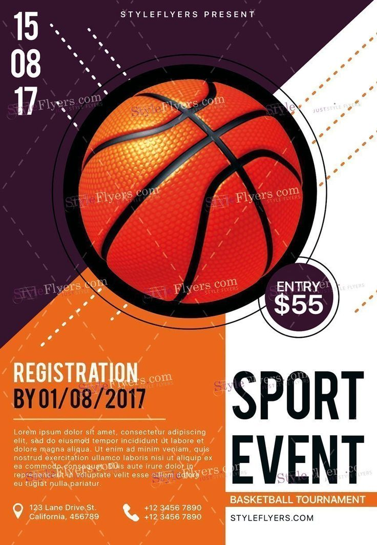 41 best sport flyers images on Pinterest Flyers, Products and Boxing - basketball flyer example