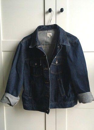 Kup mój przedmiot na #vintedpl http://www.vinted.pl/damska-odziez/kurtki/17288996-jeansowa-kurtka-katana-calvin-klein-ciemny-denim-oversize-ck