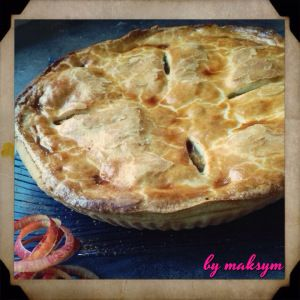 home made double crusted apple pie