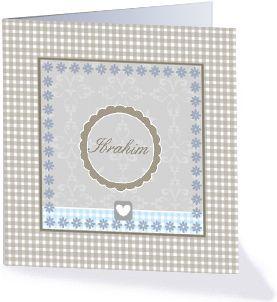 Een leuk geboortekaartje van de collectie klassieke geboortekaartjes.