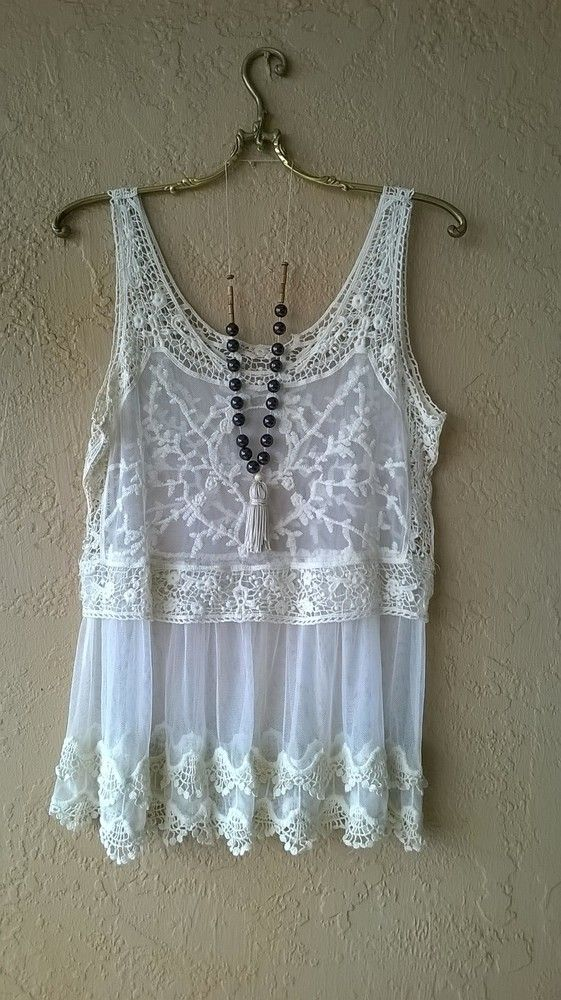 Summer Gypsy camisole...Great for over bikini then right to barefoot bar resort
