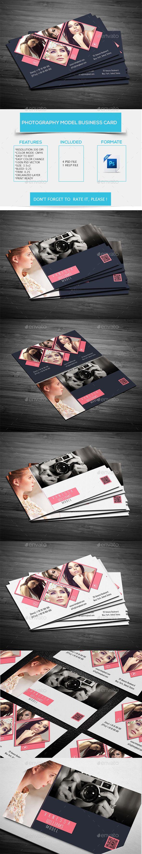 Photography Model Business Card Template #design #visitenkarte Download: http://graphicriver.net/item/photography-model-business-card-/12290157?ref=ksioks