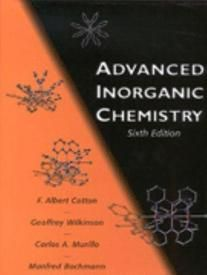Free Download Advanced Inorganic Chemistry A Comprehensive Text 3rd Edition Written By F Albert Cotton And Chemistry Book Pdf Chemistry Physical Chemistry