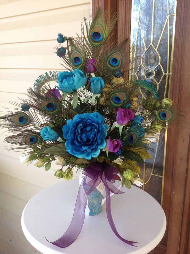 10 Best Ideas About Peacock Wedding Decorations On Pinterest .