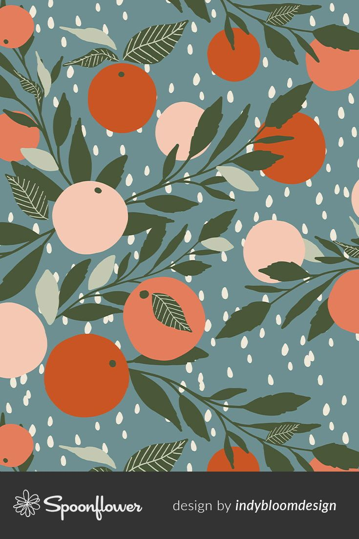 Colorful Fabrics Digitally Printed By Spoonflower Grapefruit