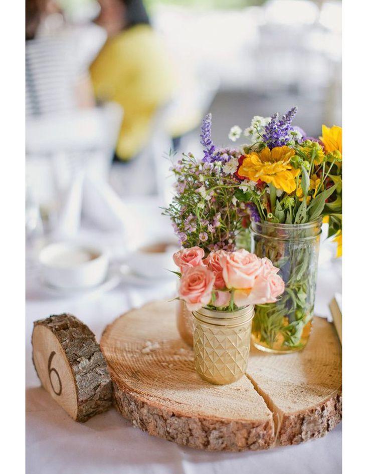 Les 25 meilleures id es concernant centre de table en bois for Centre table bois flotte fleurs