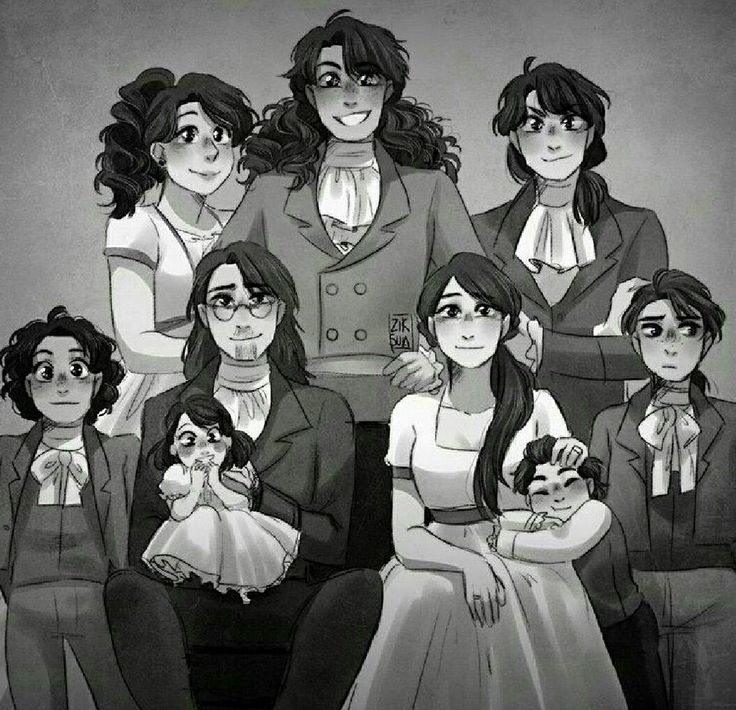 Hamilton Family~~~~ I always thought the guy in middle was Philip. I did some research on Hamilton kids and it said he had 8 kids. But in this picture there's 7. Then I realized, Philip died. He's not in the picture cause he died.