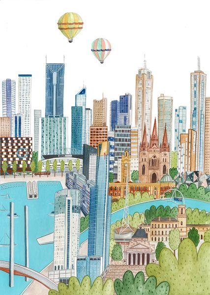 Melbourne di AriLand su DaWanda.com