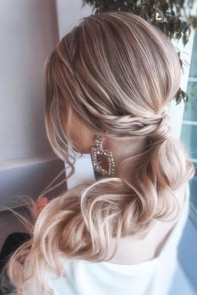 37 Modern Pony Tail Hairstyles Ideas For Wedding Wedding Forward Bridesmaid Hair Side Tail Hairstyle Ponytail Hairstyles