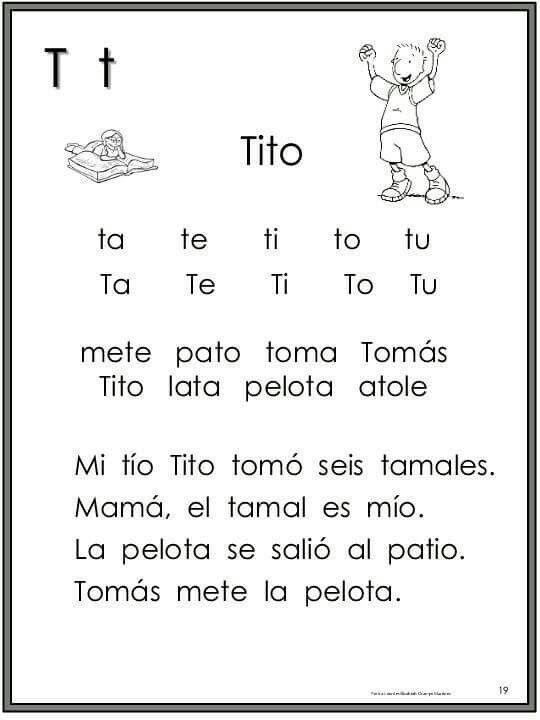 Las Silabas De De Ta Practica Te Ti Tu