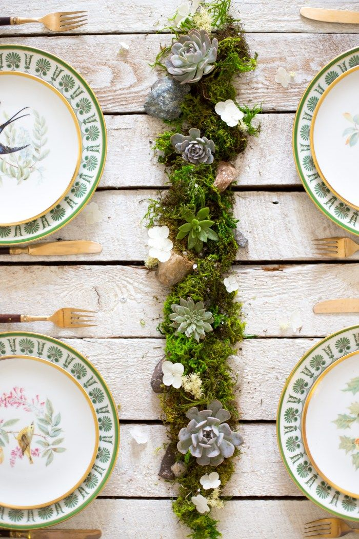 10 different modern centerpieces to dress up a tabletop, ranging from clean and monochromatic to sparkly and metallic to sweet and savory.