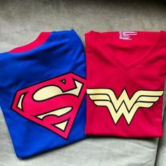 Camisetas para parejas #superman #wonderwoman#dccomics #justiceleague #amor #love   via  kreativo_design