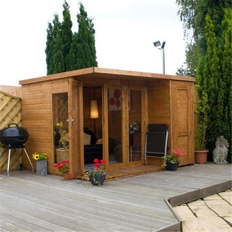 10ft x 8ft contemporary gardenroom combi, cheap affordable wooden sheds, free delivery