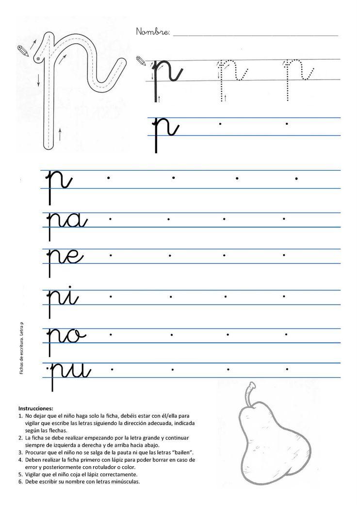 Caligrafia letra p
