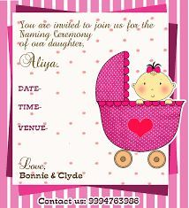 Best Baby Naming Ceremony Invitation Cards Images On