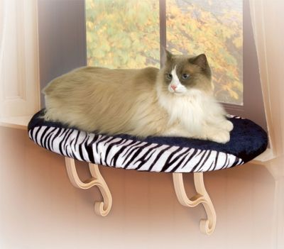 zebra print cat window perch for large cats