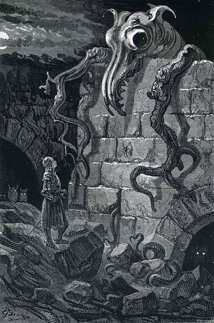 The Gnarled Monster by Gustave Dore, 1870