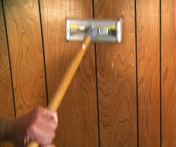 How To Paint Wood Paneling Sand Paneling will need this for the basement man cave