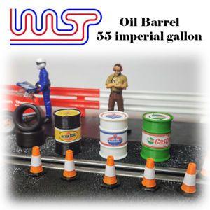 a wasp tambores de aceite 55 gal approx 20820 l escala 132 varios disenos ranura de coche paisaje de pista