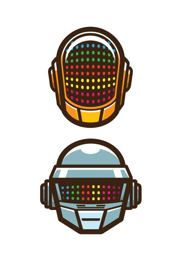 Daft Punk Vector on Behance