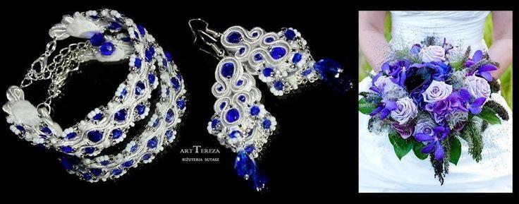 biżuteria ślubna sutasz chaber i biel