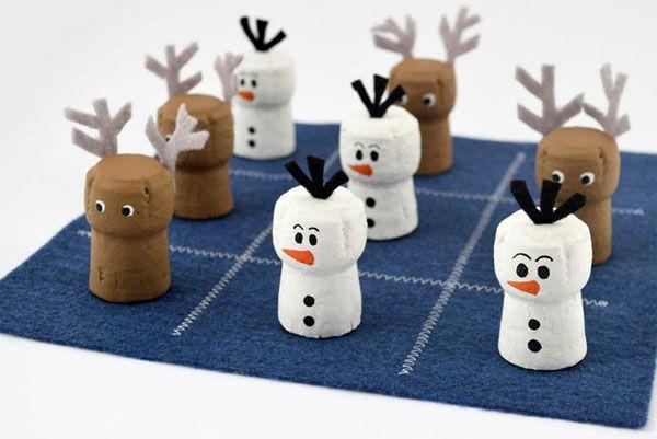 Come creare i personaggi di Frozen, Olaf e Sven, con dei tappi di sughero
