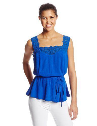 Womens Lace Sweatheart Tie Sash Tank www.weartowork.us