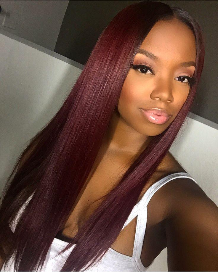 The 25 Best Burgundy Hair Black Girl Ideas On Pinterest  Black Girls Red Hair, Black -1603