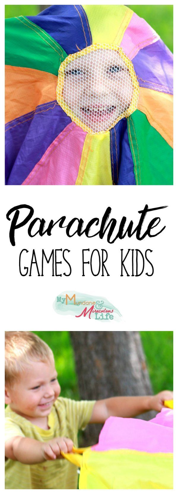 Looking for simple outdoor fun for preschoolers? This classic backyard game will delight students. Parachute Games for Kids