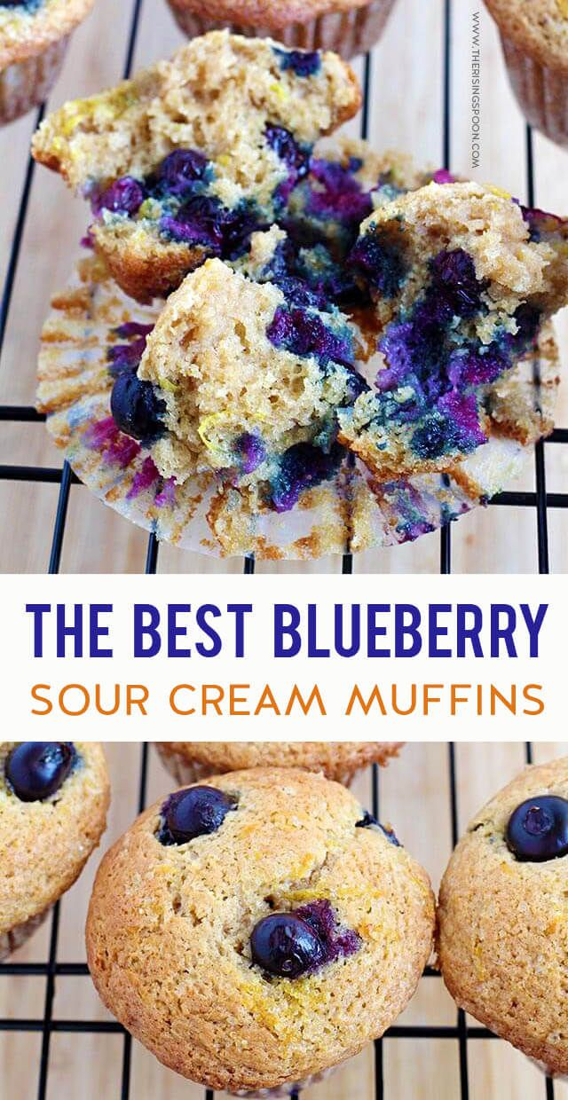 Blueberry Sour Cream Muffins Recipe Muffin Recipes Blueberry Sour Cream Recipes Diet Cookies Recipe