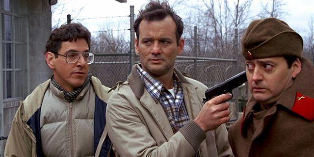 Bill Murray no filme Recrutas da Pesada, clássico da década de 1980.