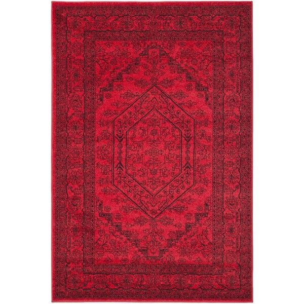 Safavieh Cyprus Red Area Rug (£69) ❤ liked on Polyvore featuring home, rugs, bright red area rug, red area rugs, bright red rug, safavieh area rugs and red rug