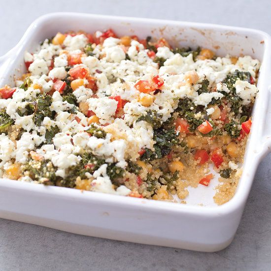 Baked Quinoa With Roasted Kale, Feta and Chickpeas