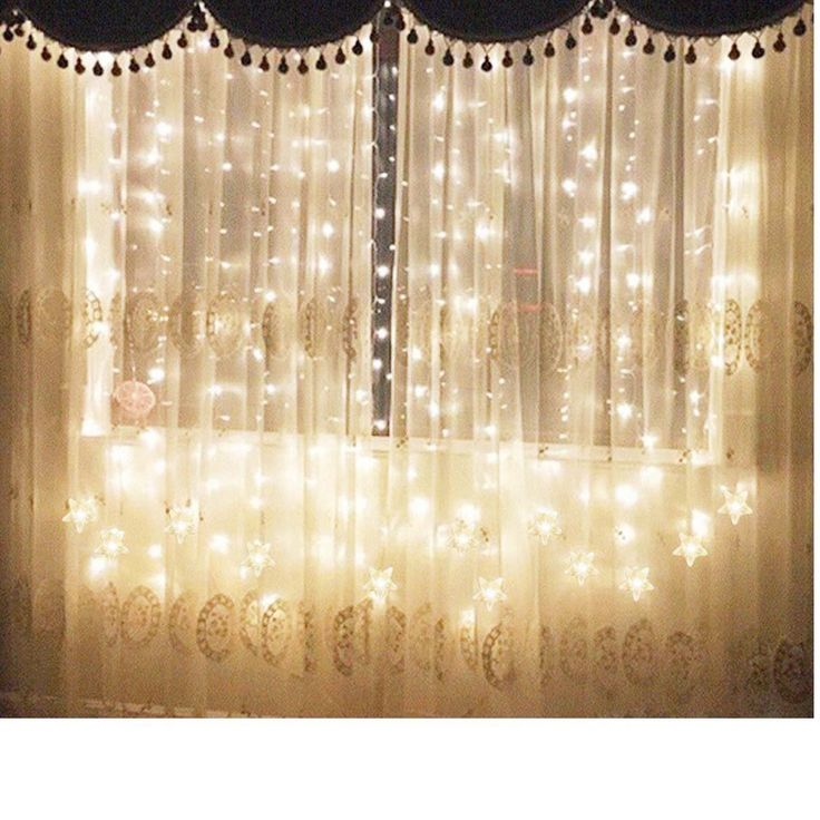 Star Curtain Lights, Tofu 8 Function 100 LED 6.6ft Starry Hanging Icicle  Twinkle Fairy