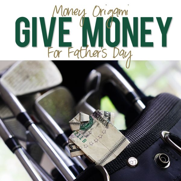 Money Origami. Money folded into a shirt for father's day! | How Does She
